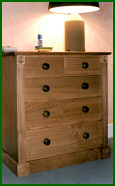 Bespoke Chestnut Bedroom Suite Drawers