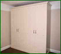 Hand Built 4 Door Bedroom Wardrobe